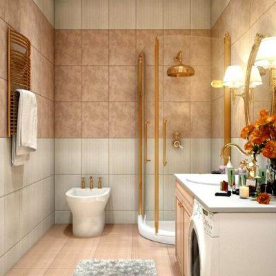 стильное оформление ванной комнаты