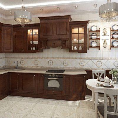 чневая угловая кухняКорин