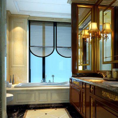вариант дизайна ванной комнаты