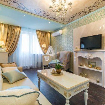 Светлая классика гостиной в современном стиле