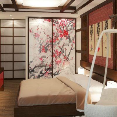 Фото спальни в японских мотивах