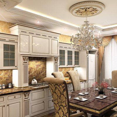 Кухня барокко стильная