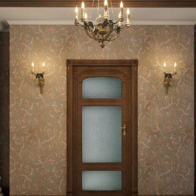 Вариант оформления прихожей в классическом стиле небольшой площади на фото примере