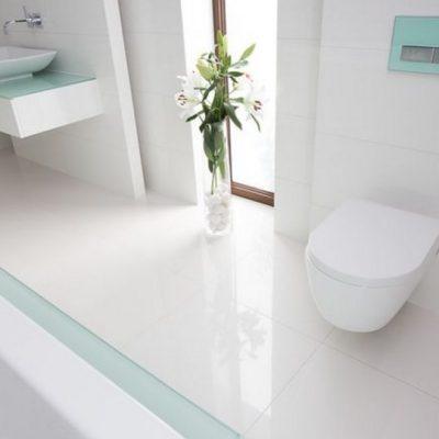 оформление пола ванной