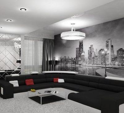 Пример обустройства гостиной комнаты интерьера
