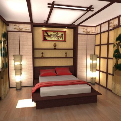 Спальная комната на фото примере