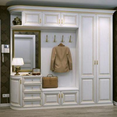 Белая классика шкафа для прихожей