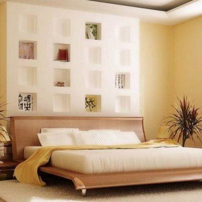 Растения в спальне как часть интерьера
