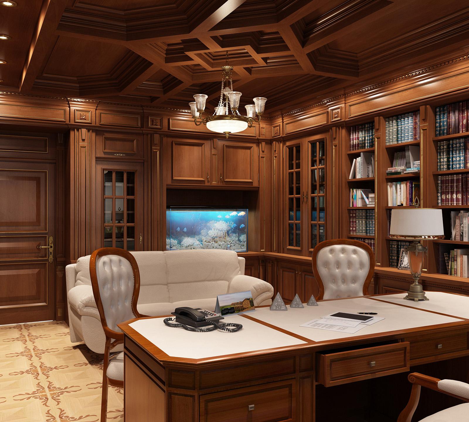 самом дизайн домашнего кабинета с фото работает