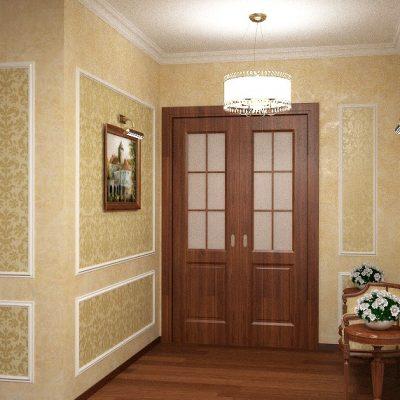 двойная дверь в прихожей