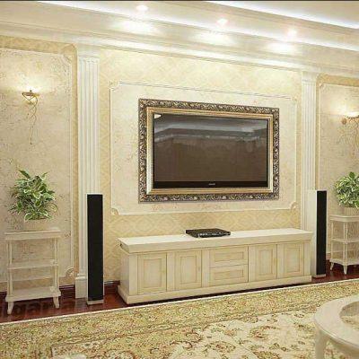Мебель в гостиной в духе классики современного стиля