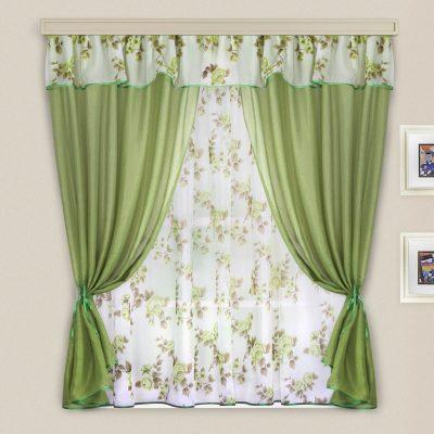 Пример штор зеленого цвета