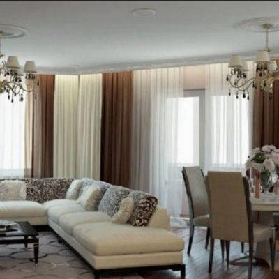 Разновидность люстра в интерьере гостиной