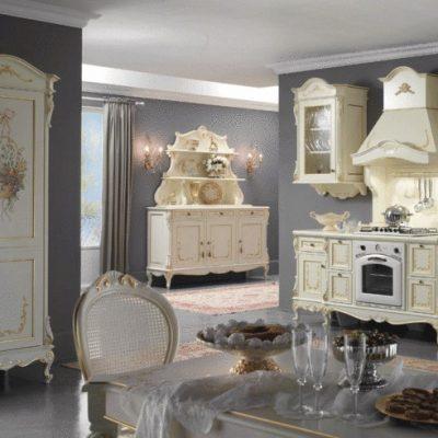 Интерьер кухни барокко стиля