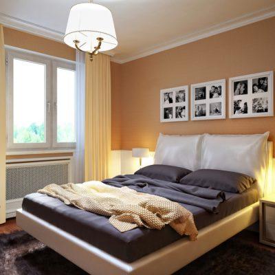Королевская кровать в спальне