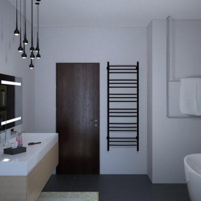 Детали ванной комнаты минимализма