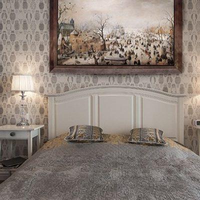 Украшение спальни мебелью в американском стиле