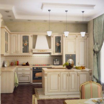 Мебель кухонная барокко стиля угловая
