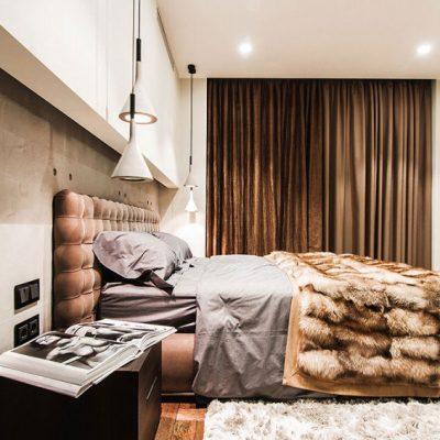 Спальня лофт стиля в интерьере