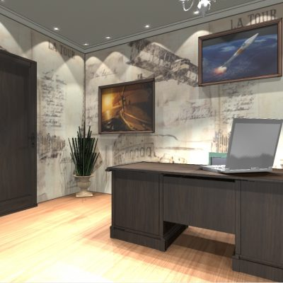 Дизайн по фен шуй кабинета