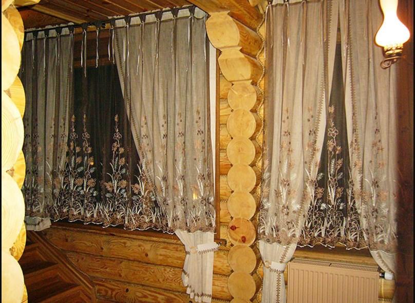 на дачу тюль шторы внутри окна фото того, как