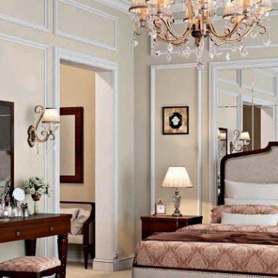 Украшение спальни мебелью в американском стиле в интерьере