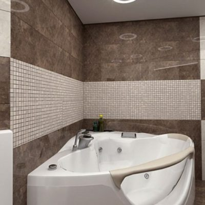 Сантехника в ванной комнате в минимализм стиле