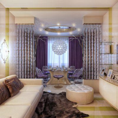 Изящная гостиная современного стиля