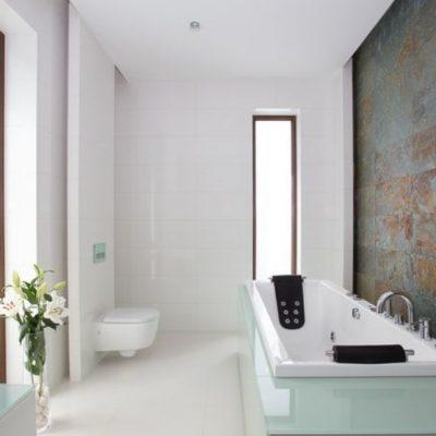 Интересное оформление ванной