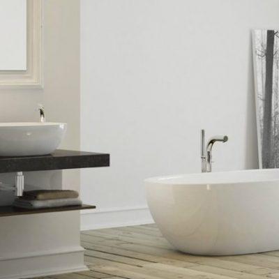 Интересное оформление ванной комнаты в минималзме
