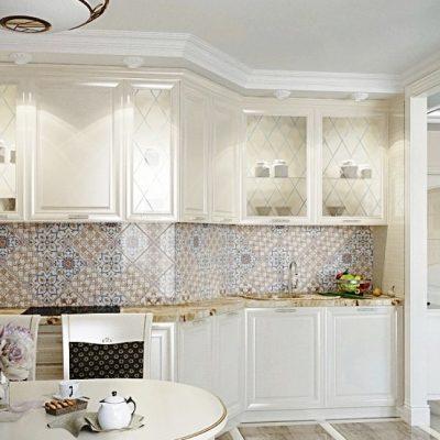 Кухня с вытяжкой неоклассика стиля