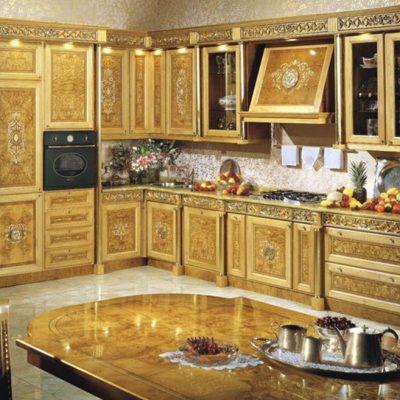Кухня барокко золотая