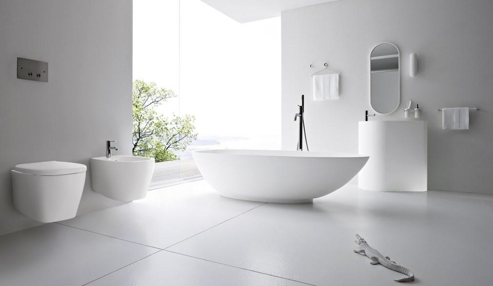 Интересное оформление ванной комнаты в минималзм стиле