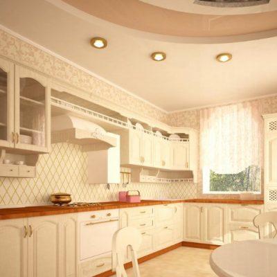 Кухонный гарнитур барокко стиля угловой