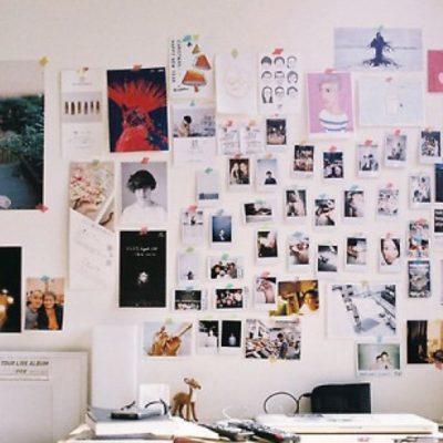Оформление стен фотками в интерьере