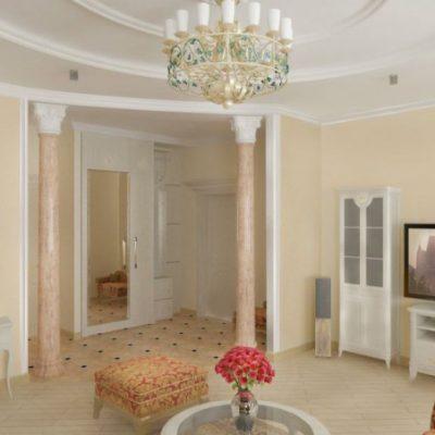 Плазма в интерьере гостиной