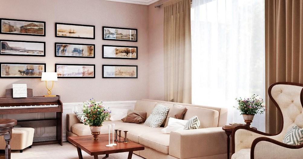 Гостиная в стиле современная классика - место соединения эпохи Возрождения и современных тенденций