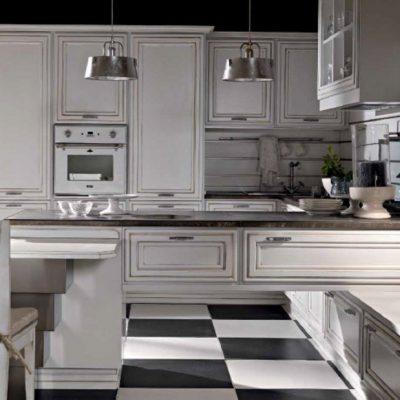 Стиль неоклассика кухни на примере
