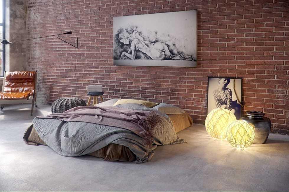 Уютная спальня на фото в лофт