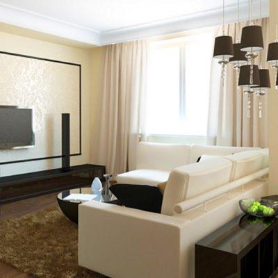 Расположение дивана в гостиной
