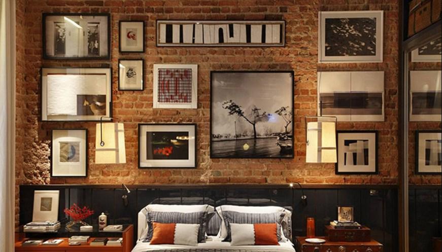 Уютная спальня на фото в лофт стиле