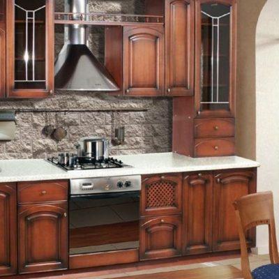 Пример гарнитура кухни в барокко стиле