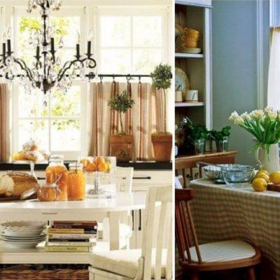 Варианты штор на кухню