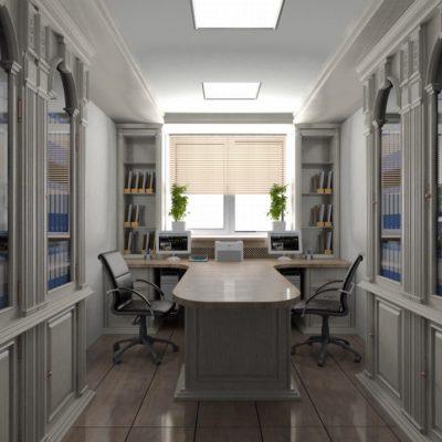 Темно белый кабинет