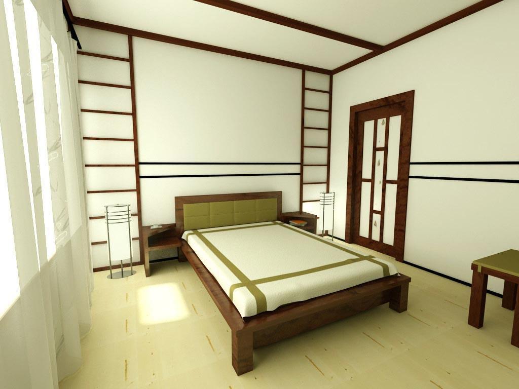 Японский стиль спальни в интерьере