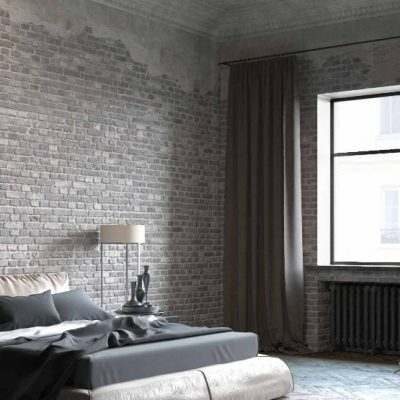 Освещение спальни в лофт стиле