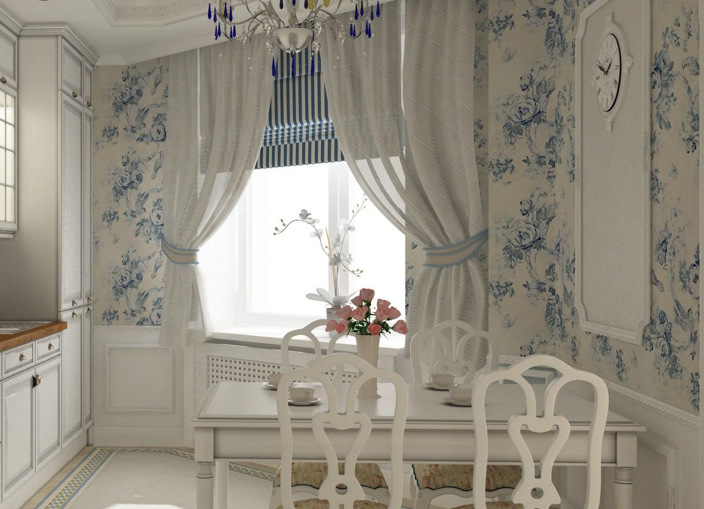 шторы на кухню в стиле прованс картинки удобно