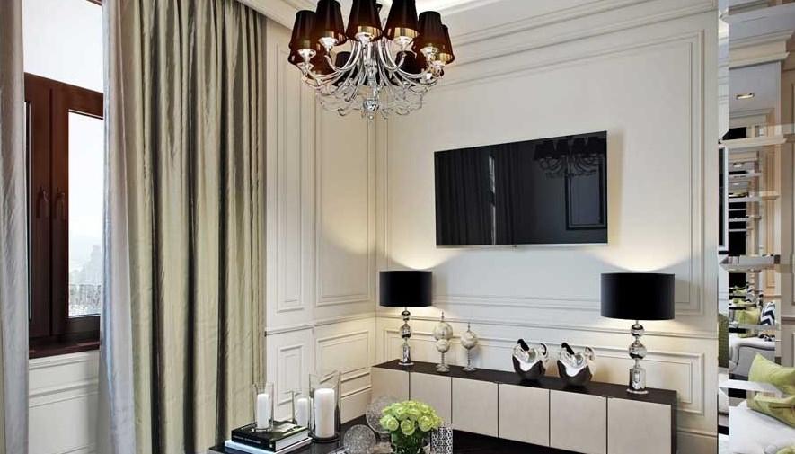 Пример люстры в гостиной