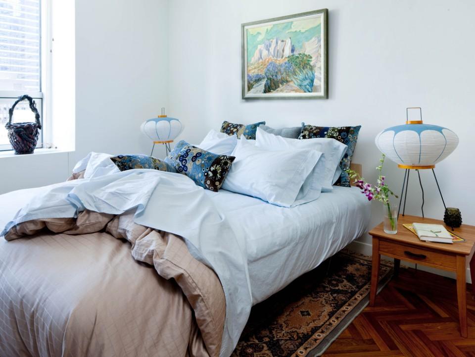 Акари светильники в спальне