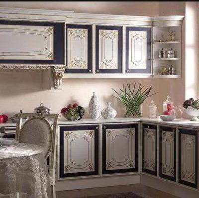 Отделка кухни в тонах двухцветных